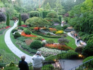 The Sunken Garden at Butchart Gardens in Victoria, BC